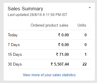 My Amazon Seller Stats